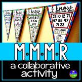Mean, Median, Mode, Range Math Pennant Activity
