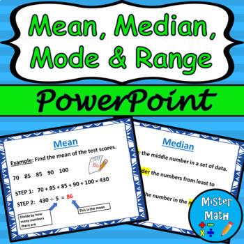 Mean, Median, Mode & Range PowerPoint Lesson