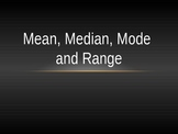 Mean, Median, Mode, Range PowerPoint Lesson and Review