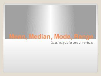 Mean, Median, Mode, Range Powerpoint