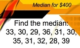 Mean Median Mode Range Powerpoint Trivia Review