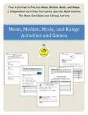 Mean Median Mode Range Practice Activities