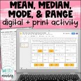 Mean, Median, Mode, & Range Puzzlers DIGITAL Activity - Google Drive & OneDrive