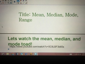 Mean, Median, Mode, Range Smartboard with guided notes