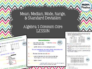 Mean, Median, Mode, Range, Standard Deviation