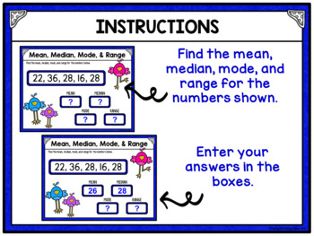 Mean Median Mode and Range - Statistics for Google Drive and Google Classroom