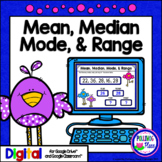 Mean Median Mode and Range - Statistics for Google Drive a