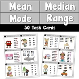 Mean Median Mode Range Task Cards