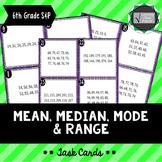 Mean, Median, Mode & Range Task Cards