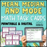 Mean, Median, Mode, Range Task Cards for teaching Mean Median and Mode Skills!