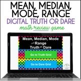 Mean, Median, Mode & Range Truth or Dare Digital Math Game