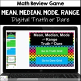 Mean, Median, Mode & Range Truth or Dare for Google Classr