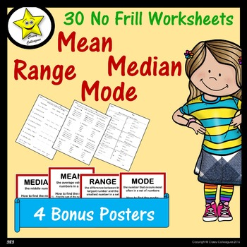 Mean, Median, Mode, Range Worksheets