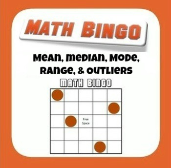 Mean, Median, Mode, Range, and Outlier Bingo