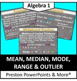 Mean, Median, Mode, Range and Outlier in a PowerPoint Presentation