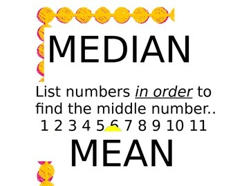 Mean, Median, Mode, Range posters