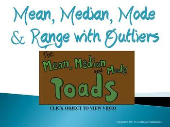 Mean Median Mode Range with Outliers