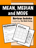 Mean, Median, Mode - Review Sudoku