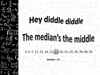 Mean Median Mode Rhyme Poster