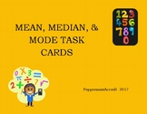 Mean, Median, & Mode Task Cards - Center Activity