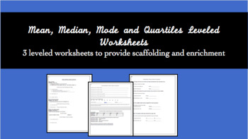 Mean, Median, Mode and Quartiles by Levels