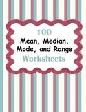 Mean, Median, Mode, and Range Worksheets