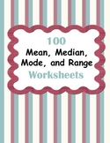 Mean, Median, Mode, and Range Worksheets