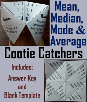 Mean Median Mode Range Activity (No Prep Scoot Unit Review Game/ Quiz)