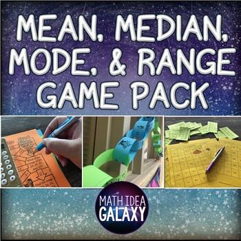 Mean, Median, Mode, and Range Activities