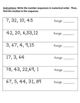 Mean, Median, Mode, and Range - Activities Using Dice, Cards, & More!
