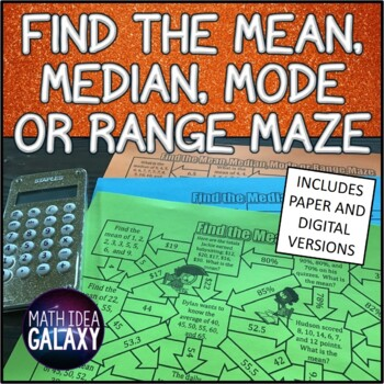 Mean, Median, Mode, and Range Activity