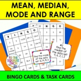 Mean, Median, Mode and Range Bingo