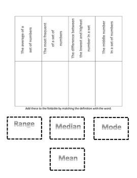 Mean Median Mode and Range Bundle Pack