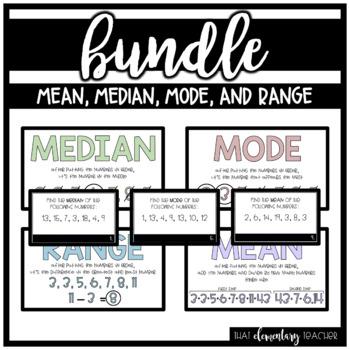Mean, Median, Mode, and Range Bundle