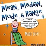 Mean, Median, Mode, and Range (Bundled Unit) - Distance Learning
