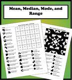 Mean, Median, Mode, and Range Color Worksheet