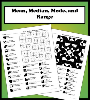 Mean, Median, Mode, and Range Color Worksheet by Aric Thomas | TpT