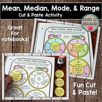 Mean, Median, Mode, and Range Cut and Paste Activity