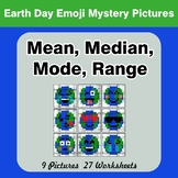 Mean, Median, Mode, and Range - Earth Day Emoji Mystery Pictures