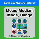 Mean, Median, Mode, and Range - Earth Day Mystery Pictures