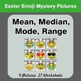 Mean, Median, Mode, and Range - Easter Emoji Mystery Pictures