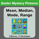 Mean, Median, Mode, and Range - Easter Mystery Pictures