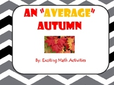 Mean, Median, Mode and Range Fun Fall Activity