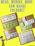 Mean, Median, Mode and Range Foldable