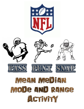 Mean, Median, Mode, and Range Football Project