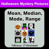 Mean, Median, Mode, and Range - Halloween Mystery Pictures