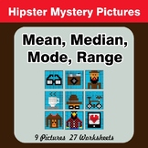 Mean, Median, Mode, and Range - Hipsters Mystery Pictures