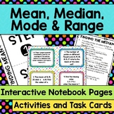 Mean, Median, Mode and Range Interactive Notebook