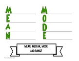 Mean, Median, Mode and Range Interactive Piece