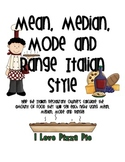 Mean, Median, Mode and Range Italian Style